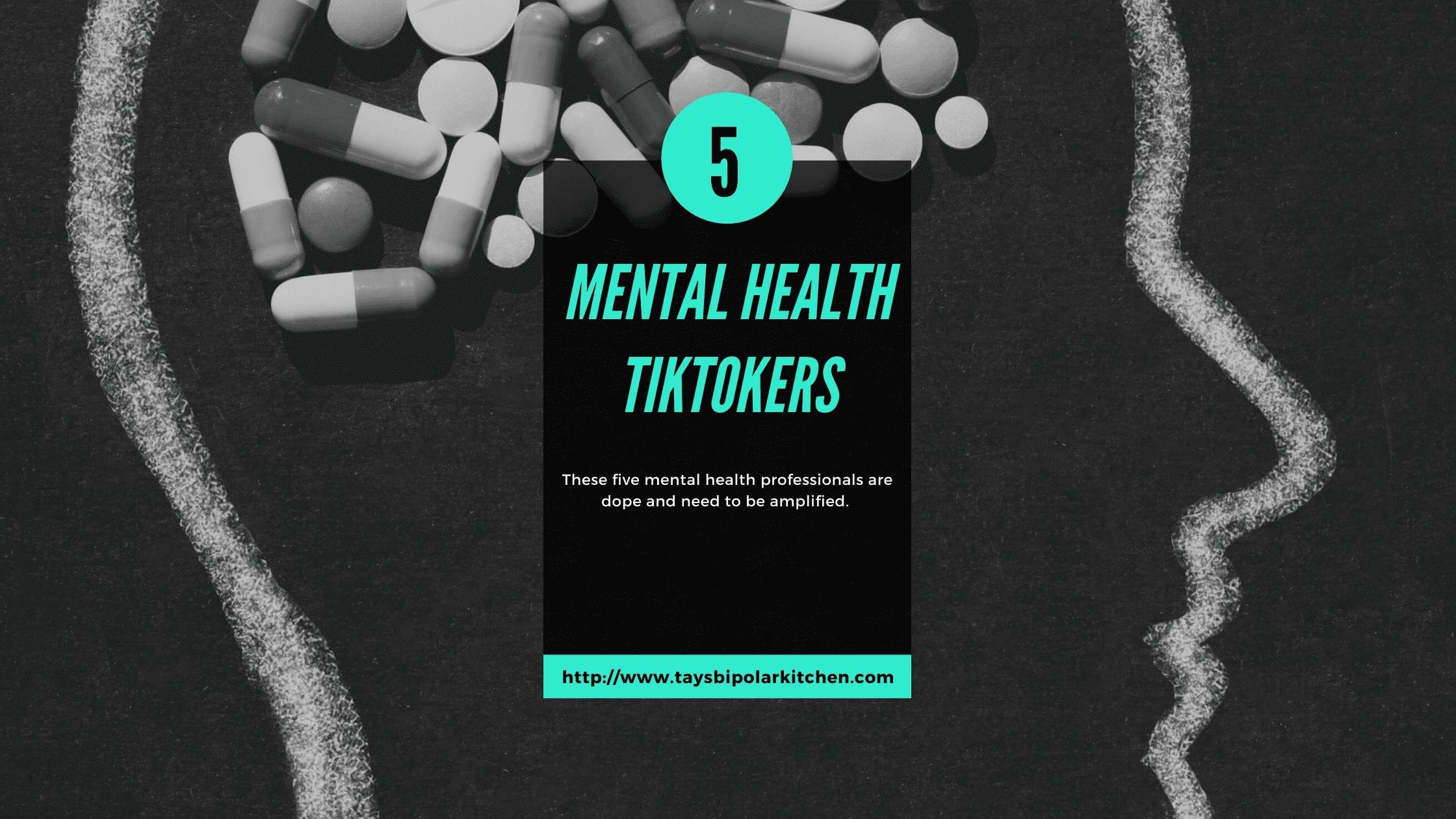 Mental Health Wellness TikTokers Black background banner